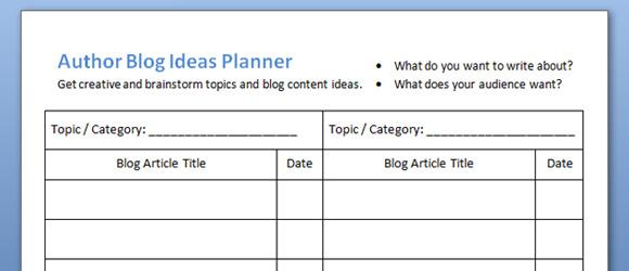 Blog editorial calendar blog ideas planner free templates book author blog ideas planner maxwellsz
