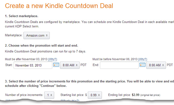 kindle countdown deals
