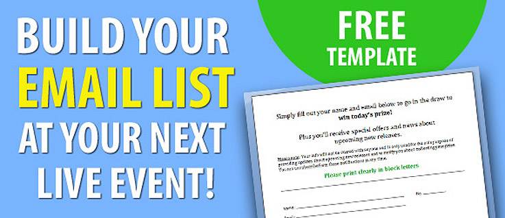 Author Platform Tip: Building Your Email List at Live Events